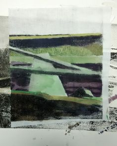 Laura Kozma: PRINTING Project - day 8 …collagraph boat with carborundum - detail on colored cotton