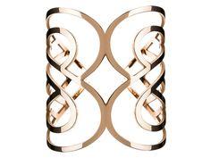 POIRAY - Bracelet manchette Cœur Papillon en or rose