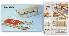 DIY Wooden Sleigh - Children's Plans and Projects   WoodArchivist.com