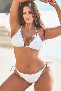 0081b989c1 Ashley Graham x Swimsuits For All Icon White Bikini