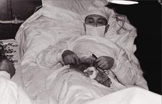 On April 30, 1961, Dr. Leonid Rogozov removed his own infected appendix at the Soviet Novolazarevskaja Research Station in Antarctica, as he was the only physician on staff. The operation lasted one hour and 45 minutes