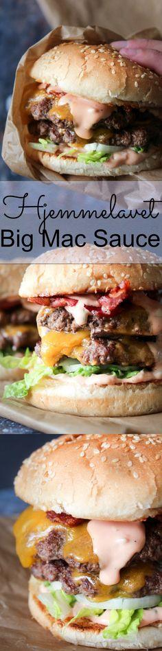 Big Mac Sauce Til Burger - Zirkus Kindergarten Big Mac, Burger Recipes, Copycat Recipes, Sauce Recipes, Burger Dressing, Roasted Mushrooms, Pesto, Great Recipes, Food To Make