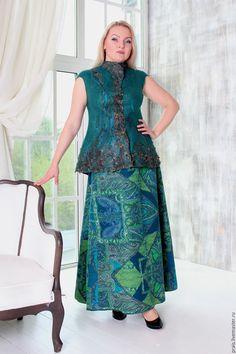 """Авторский валяный костюм """"Emerald forest"""" – купить в интернет-магазине на Ярмарке Мастеров с доставкой"""
