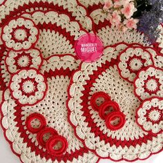 Crochet Placemats, Crochet Doilies, Crochet Top, Knitting Patterns, Crochet Patterns, Diy And Crafts, Projects To Try, Sewing, Holiday Decor