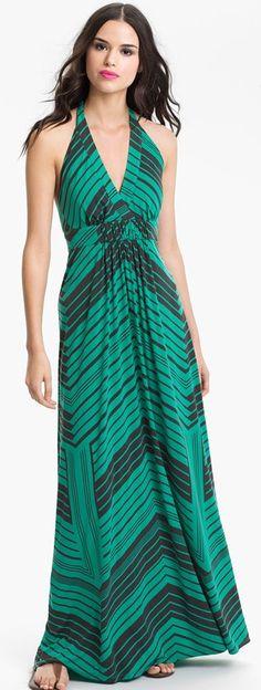 Jessica Simpson Stripe Halter Maxi Dress ♥✤ | Keep the Glamour | BeStayBeautiful