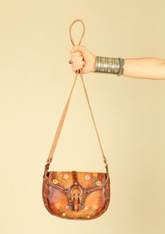 Vintage 70's Hand Tooled Leather Purse - I had a similar one.