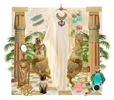 """""""Remembering the ancient Egypt"""" by fiordiluna ❤ liked on Polyvore featuring CO, Lanvin, Stephen Dweck, Paige Denim, Fantasy Jewelry Box, Christian Dior, Estée Lauder, Zoya, Bourjois and Ted Baker"""