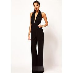 Women's Hot Sale Print Slim Sexy Off-The-Shoulder Jumpsuits , Sexy / Casual Bateau Long Sleeve 2016 - $13.99