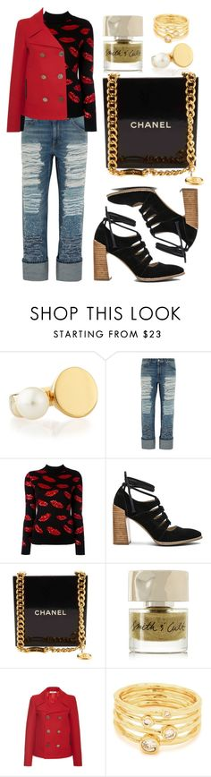 """Lips"" by cherieaustin on Polyvore featuring Chloé, Alexander McQueen, Yves Saint Laurent, Seychelles, Chanel, Smith & Cult, Bally and Gorjana"