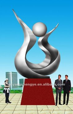 escultura abstrata  moderna stainless steel sculpture- Pesquisa Google