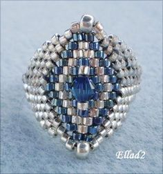 Jewelry: Tutorial Silver Blue Ring