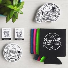 Happy Weekend!  New stuff in the store! Link in my bio  #jamiebrowneart #weekend #friday #staychill #ghostfromthecoast #stickers #stubbieholder #koozies #lapel #pins #store #beermoney #party #lastcall #jb by jamiebrowneart