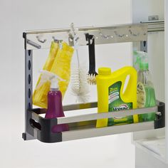 This under-sink cupboard storage unit is the answer to all your hygiene needs! Hang up your damp washing cloth and hide your dishwashing scrubber