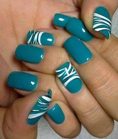 Pretty blue nails!
