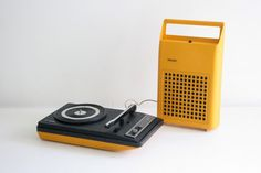 Vintage Portable Record Player -  Philips 133 Space Age Design