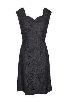 Dolce & Gabbana Sweetheart Neckline Etui Dress in Black