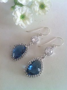 Montana Glass Stones and Cubic Zirconia Dangle by SwamiJewelry https://www.etsy.com/sg-en/listing/183426765/montana-glass-stones-and-cubic-zirconia?ref=shop_home_active_5
