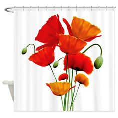 Bunch of California Poppies Shower Curtain