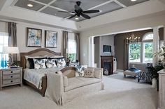 Owner's Bedroom: Colorado, photo Mountain Valley at Villages at Round Hill - K. Hovnanian Homes