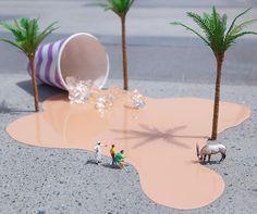 Tiny in Dubai: New Miniature Art Installations by Slinkachu