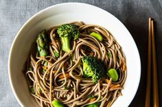 Cold Sesame Soba Noodle and Fava Bean Salad by food52 #Noodles