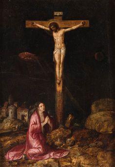 Magdalena al peu de la creu  Escola flamenca s.XVI