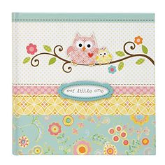 #manythings.online This adorable Happi baby Girl #Slim #Bound Photo Journal Album features a special taffeta ribbon, tip-on's, and sweet Owl motif.  This bound ph...