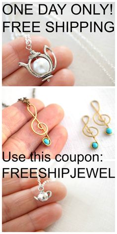 Once a year on December 16th!  ONE DAY ONLY! FREE SHIPPING to the US and Canada! Use this coupon: FREESHIPJEWEL You will receive a little GIFT with every order ... just to tempt you to treat yourself to something special. All orders will arrive beautifully GIFT WRAPPED, ready for gift giving. http://www.MiniMoonJewel.etsy.com