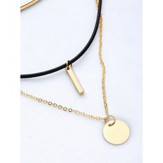 Bar Pendant Layered Necklace ❤ liked on Polyvore featuring jewelry, necklaces, layered jewelry, double layer necklace, multi layer necklace, pendant jewelry and pendant necklaces