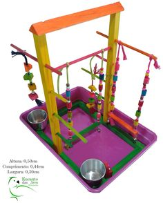playground para calopsitas ,papagaios ,e outras aves .