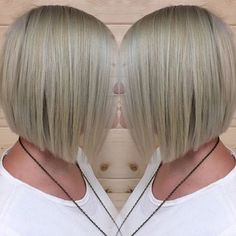 classic short straight blunt bob cut for women