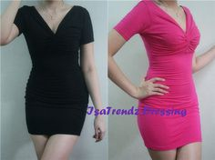 P005 Short Sleeve V neck Dress - $11.4 on @ClozetteCo