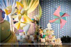 Adorable!  Pinwheels and lollipops :)