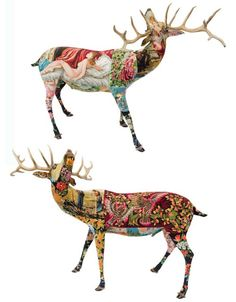 Embroidered taxidermy by Frederique Morrel.