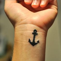 I want an anchor tattoo on the side of my wrist.
