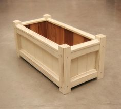 Handmade Reclaimed Wood Garden Planter Box with Rustic Antique White Paint Finish