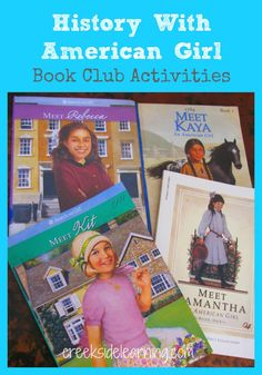 American Girl Doll Books History Book Club Crafts activities unit study and boo. - American Girl Doll Books History Book Club Crafts activities unit study and book club ideas for le - Activities For Girls, History Activities, Book Activities, History Education, History Class, Teaching History, History Book Club, History Books For Kids, American Girl Books