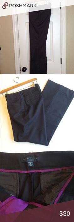 Banana Republic Jackson Fit Pants Size 4 Jackson Fit pant. Dark brown with purple trim. Cotton, unlined, button front, belt loops, hip pockets, 31 inch inseam. Banana Republic Pants Trousers
