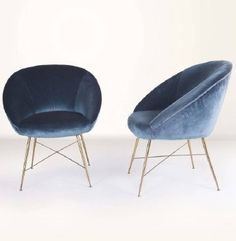 Cute navy velvet chairs