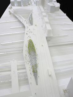 Maquette d'architecture du pont de pleyel à St Denis www.alpha-volumes.com architecte: http://www.mimram.com/