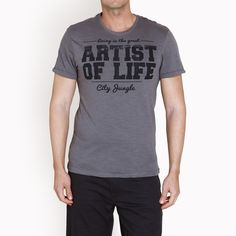 Γκρι t-shirt με στάμπα, 17,90€. Mens Fashion, Mens Tops, T Shirt, Moda Masculina, Supreme T Shirt, Man Fashion, Tee, Fashion For Men, Men's Fashion