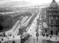 Bilbao, Hurtado de Amezaga St. and Abando Train Station