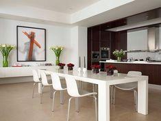 Bright, contemporary dining room.
