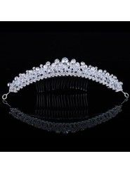 Gorgeous Alloy with Zircons and Rhinestiones Bridal Headpiece Modern Fashion, Unique Fashion, Womens Fashion, Wedding Headpieces, Bridal Comb, Wedding Accessories, Dress Collection, Stylish, Wedding Dresses