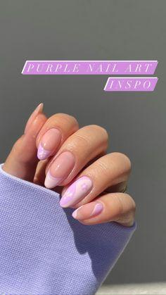 Acrylic Nails Coffin Short, Simple Acrylic Nails, Best Acrylic Nails, Best Nails, Purple Nail Designs, Cute Acrylic Nail Designs, Cute Simple Nail Designs, Accent Nail Designs, Nail Art Designs