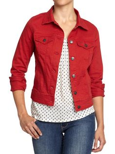 Ladies Colored Denim Jackets | Fit Jacket