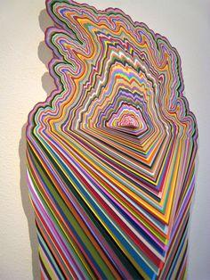 artwork by jen stark Cut Paper / Paper Art More At FOSTERGINGER @ Pinterest