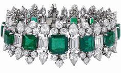 Elizabeth Taylor Emerald Diamond Bvlgari Bracelet