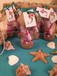 Little Mermaid message in a bottle invitations, Disney party
