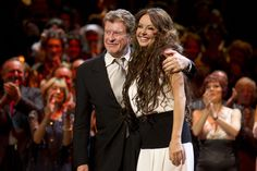 Michael Crawford and Sarah Brightman during the curtain call for the 25th anniversary of The Phantom of the Opera at the Royal Albert Hall, London, England on 2nd October 2011. Photo: Dan Wooller